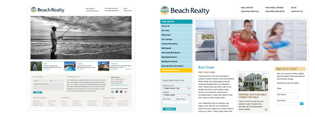 Beach Realty Website