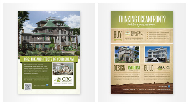 Myrtle Beach Custom Printing Flyer Brochure Menu Design