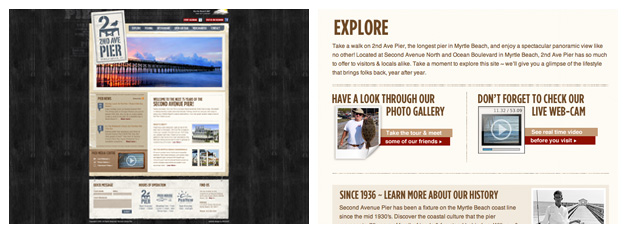 second avenue pier website design